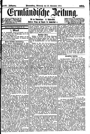 Ermländische Zeitung vom 23.11.1904