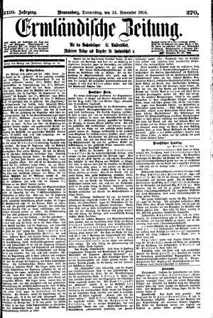 Ermländische Zeitung vom 24.11.1904