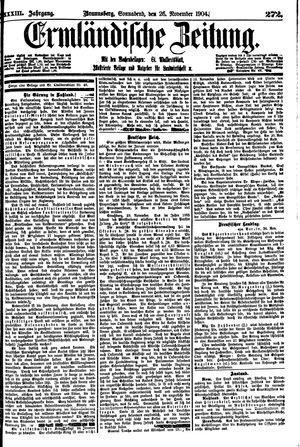 Ermländische Zeitung vom 26.11.1904