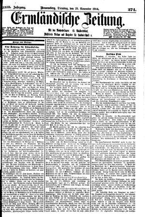 Ermländische Zeitung vom 29.11.1904
