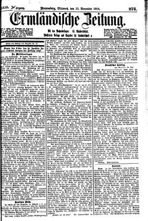 Ermländische Zeitung vom 30.11.1904