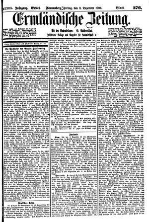 Ermländische Zeitung vom 02.12.1904