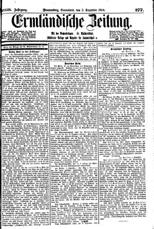 Ermländische Zeitung vom 03.12.1904