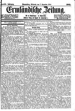 Ermländische Zeitung vom 07.12.1904
