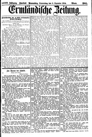 Ermländische Zeitung vom 08.12.1904