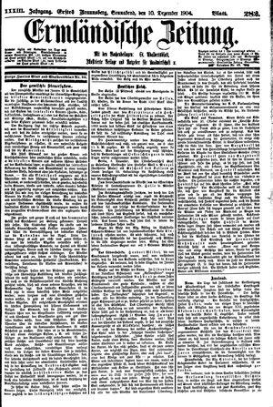 Ermländische Zeitung vom 10.12.1904