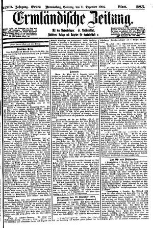 Ermländische Zeitung vom 11.12.1904
