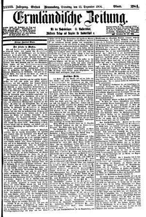Ermländische Zeitung vom 13.12.1904