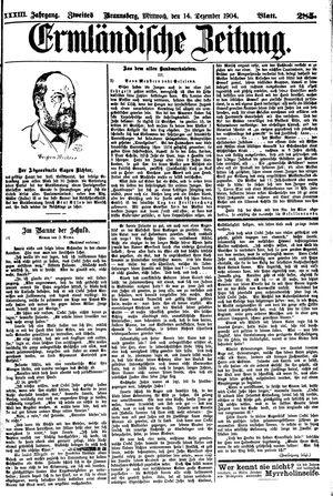 Ermländische Zeitung vom 14.12.1904