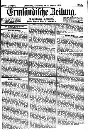 Ermländische Zeitung vom 15.12.1904