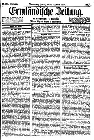 Ermländische Zeitung on Dec 16, 1904