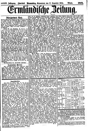Ermländische Zeitung vom 17.12.1904