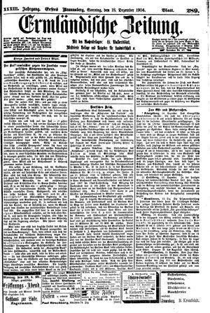 Ermländische Zeitung vom 18.12.1904