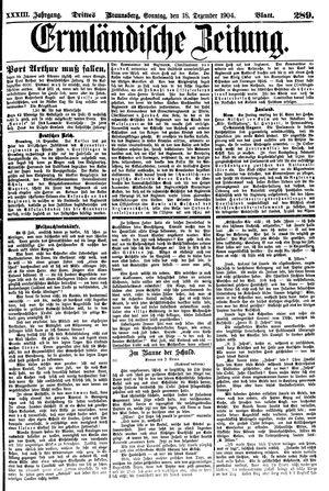 Ermländische Zeitung on Dec 18, 1904