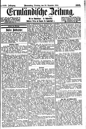 Ermländische Zeitung vom 20.12.1904