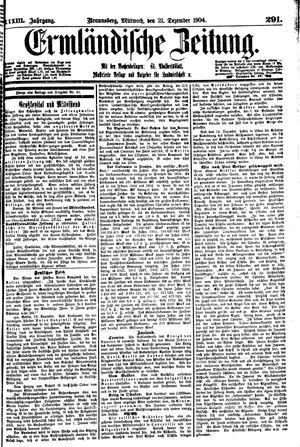 Ermländische Zeitung vom 21.12.1904