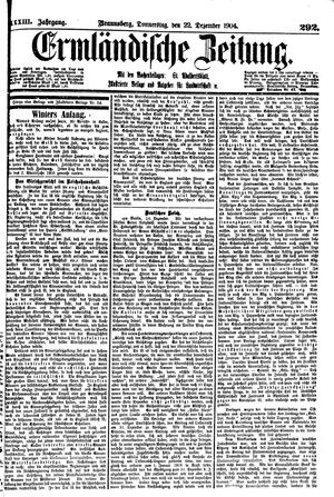 Ermländische Zeitung vom 22.12.1904