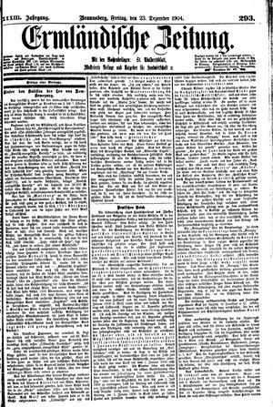 Ermländische Zeitung vom 23.12.1904