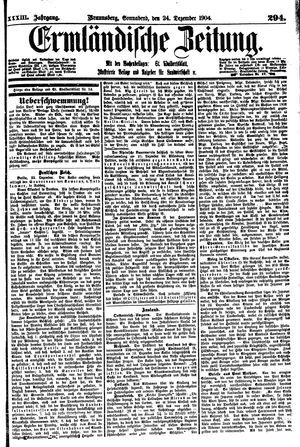Ermländische Zeitung vom 24.12.1904