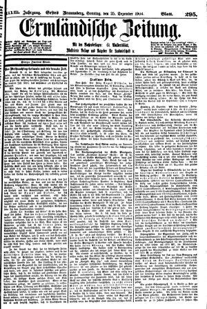 Ermländische Zeitung vom 25.12.1904