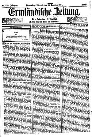 Ermländische Zeitung on Dec 28, 1904