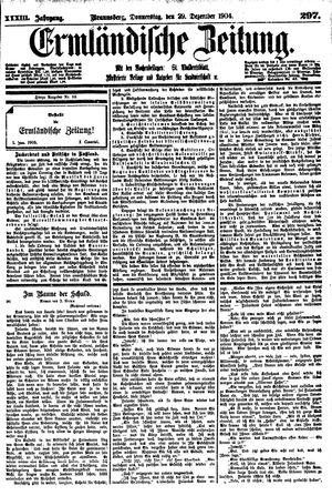 Ermländische Zeitung vom 29.12.1904