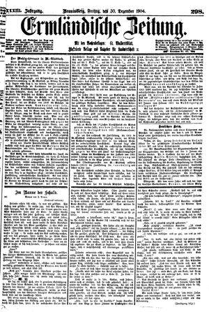 Ermländische Zeitung vom 30.12.1904