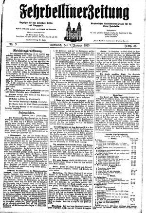 Fehrbelliner Zeitung vom 07.01.1925