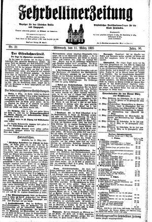 Fehrbelliner Zeitung on Mar 11, 1925