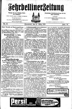 Fehrbelliner Zeitung on Mar 21, 1925