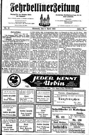Fehrbelliner Zeitung on Apr 8, 1925