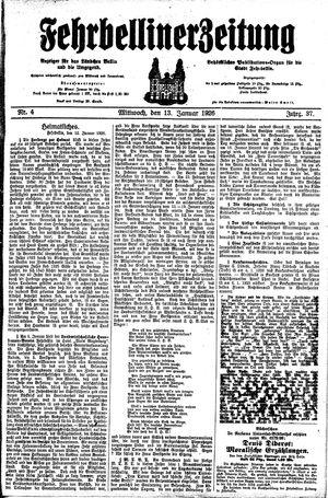 Fehrbelliner Zeitung vom 13.01.1926