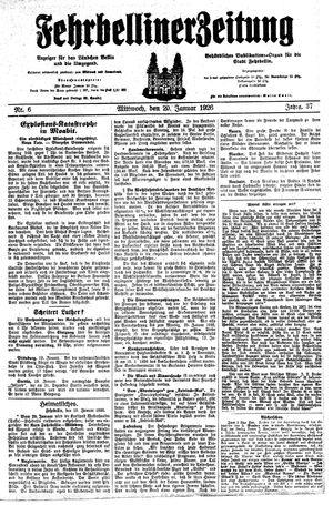 Fehrbelliner Zeitung vom 20.01.1926