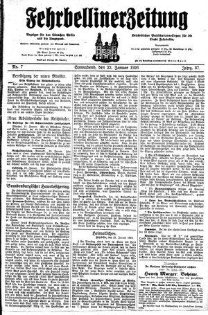 Fehrbelliner Zeitung vom 23.01.1926