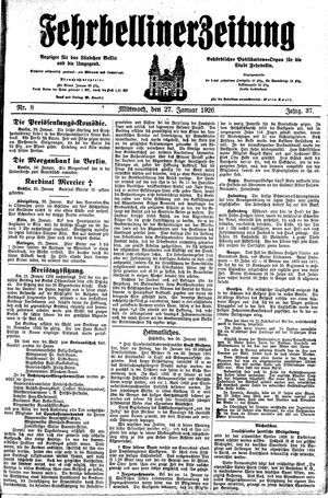 Fehrbelliner Zeitung vom 27.01.1926
