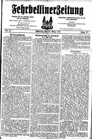 Fehrbelliner Zeitung vom 24.03.1926