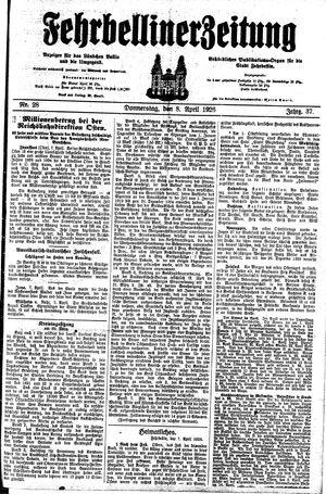Fehrbelliner Zeitung vom 08.04.1926