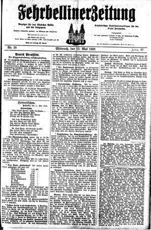 Fehrbelliner Zeitung vom 12.05.1926