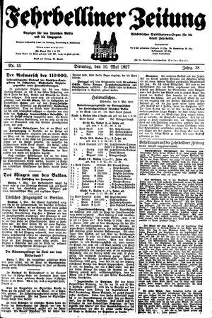 Fehrbelliner Zeitung vom 10.05.1927