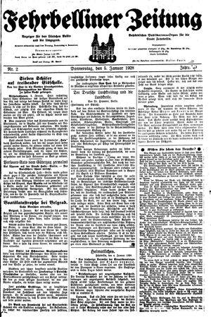 Fehrbelliner Zeitung vom 05.01.1928