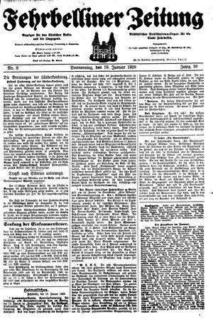 Fehrbelliner Zeitung vom 19.01.1928