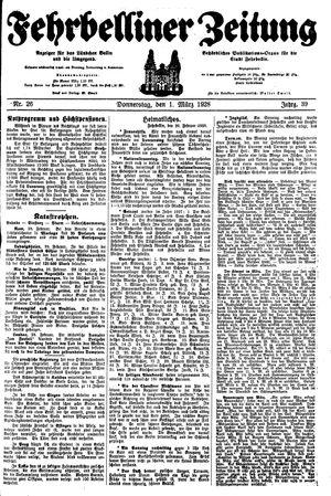 Fehrbelliner Zeitung on Mar 1, 1928