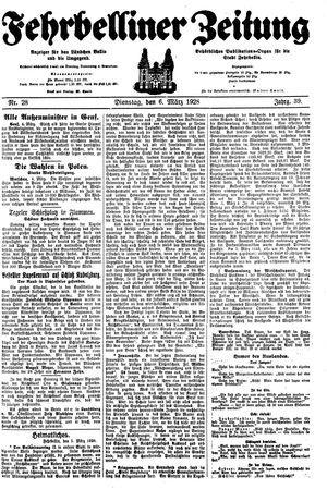 Fehrbelliner Zeitung on Mar 6, 1928