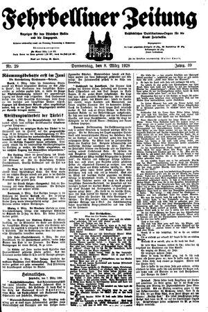 Fehrbelliner Zeitung on Mar 8, 1928