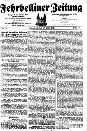 Fehrbelliner Zeitung vom 10.03.1928