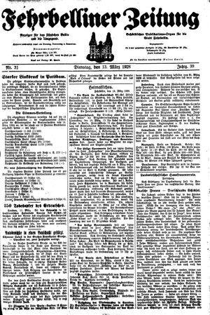 Fehrbelliner Zeitung vom 13.03.1928