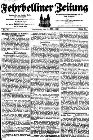 Fehrbelliner Zeitung vom 15.03.1928