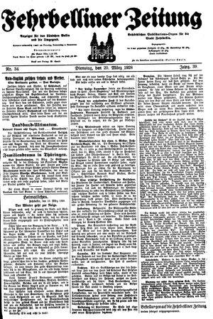 Fehrbelliner Zeitung vom 20.03.1928