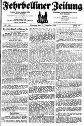 Fehrbelliner Zeitung (18.12.1928)