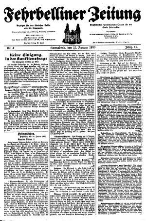 Fehrbelliner Zeitung vom 11.01.1930